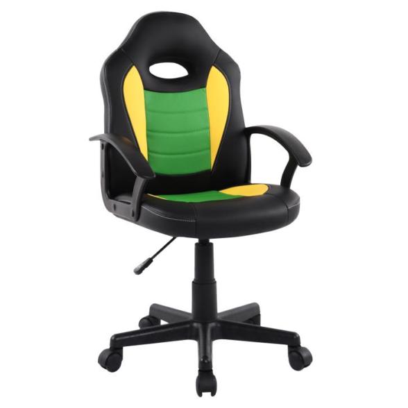 Scaun birou B11 verde galben pentru copii-Zendeco.ro