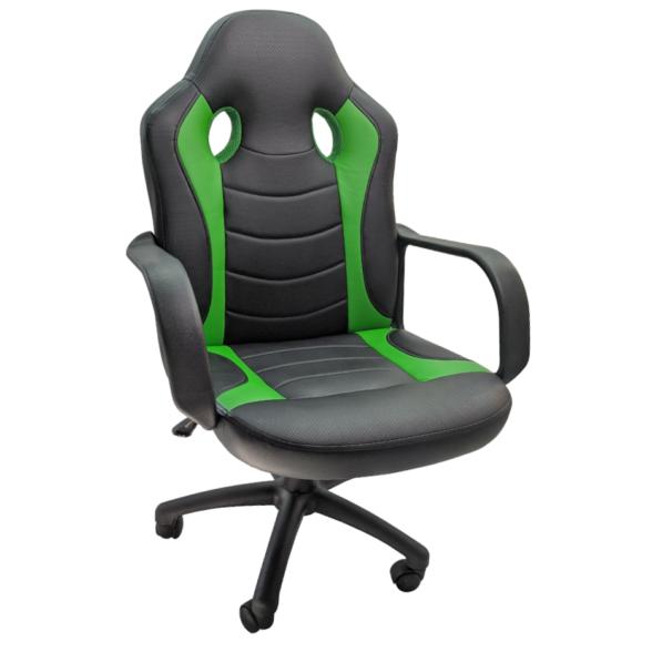 Scaun gaming Arka Chairs B15 negru verde,Zendeco.ro