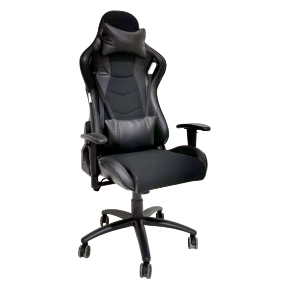 Scaun gaming Arka Chairs B147 all black Hibrid anti transpiratie-Zendeco.ro