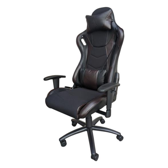Scaun gaming Arka Chairs B147 negru maro Hibrid anti transpiratie-Zendeco.ro