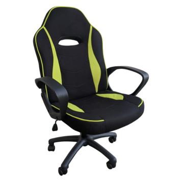 Scaun gaming Arka Chairs B14 negru verde textil