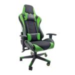 Scaun gaming B54 black green textil