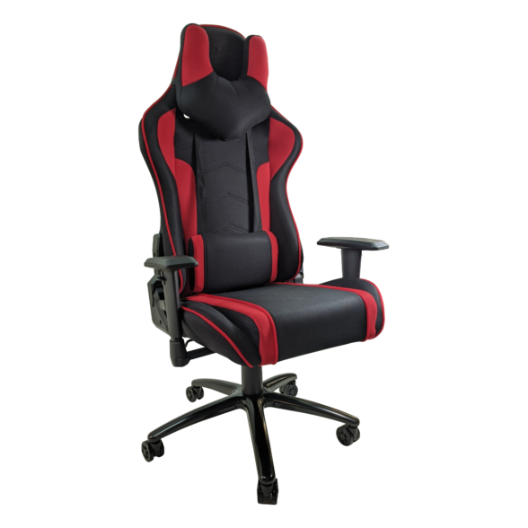 Scaun gaming Arka Chairs B64 red1 textil cu boxe incorporate, Zendeco.ro