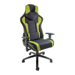 Scaun gaming Arka Chairs B64 verde textil cu boxe incorporate, Zendeco.ro
