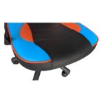 Scaun gaming B14 black blue orange1, piele ecologica, Zendeco.ro