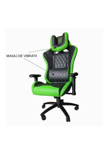 Scaun Gaming B6 Spider functie masaj, black green