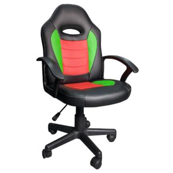 Scaun gaming Arka Chairs B11Aero, verde/rosu, pentru copii