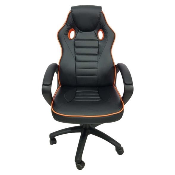 Scaun gaming Arka Chairs B17 portocaliu, piele anti transpiratie, perforata, ecologica