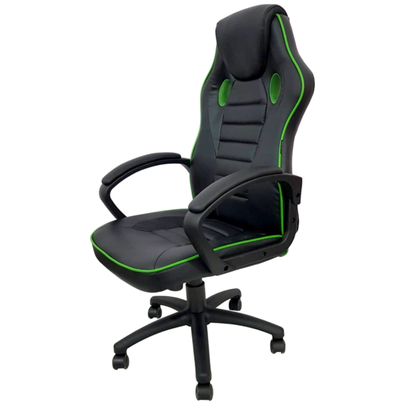 Scaun gaming Arka Chairs B17 verde, piele anti transpiratie, perforata, ecologica
