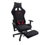 Scaun-Gaming-Arka-Chairs-B207 -black spider red-textil-Zendeco.ro