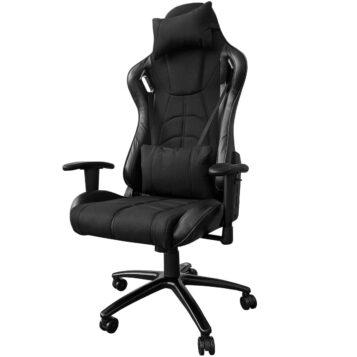 Scaun gaming Arka Chairs B147 Hercules negru textil anti transpiratie,Zendeco.ro