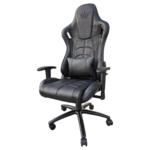 Scaun gaming Arka Chairs B147 allblack piele ecologica anti transpiratie,Zendeco.ro