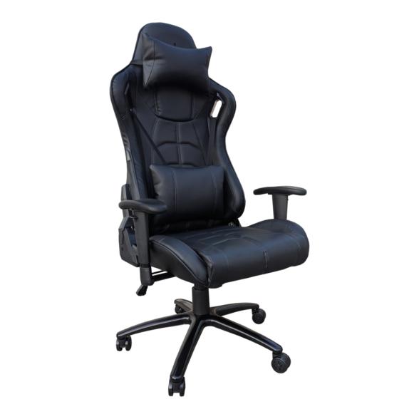 Scaun gaming Arka Chairs B147 Hercules allblack piele ecologica anti transpiratie,Zendeco.ro