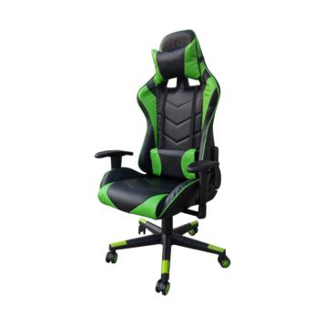 Scaun Gaming Arka Chairs B54, negru/verde piele ecologica