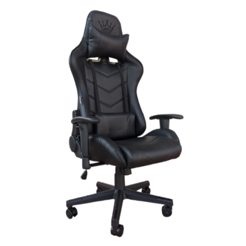 Scaun Gaming Arka Chairs B54 All black, piele antitranspiratie perforata ecologica