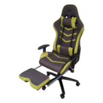Scaun Gaming Arka Line B61 textil maro verde cu suport picioare