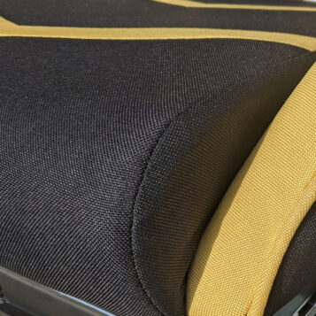Scaun Gaming Arka Line B61 textil negru galben cu suport picioare