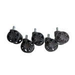Set de 5 Role Racing black 60mm, pentru scaun de gaming