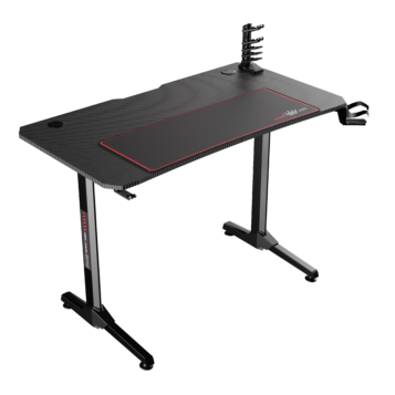 Birou gaming Arka Evolution Z7, Profesional black red, suprafata black carbon 110 x 60cm, Mouse Pad