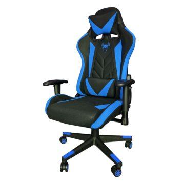 Scaun gaming B200 Spider textil black blue. Promotii-scaune.ro