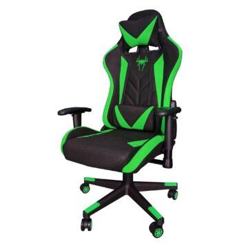 Scaun gaming B200 Spider textil black green. Promotii-scaune.ro