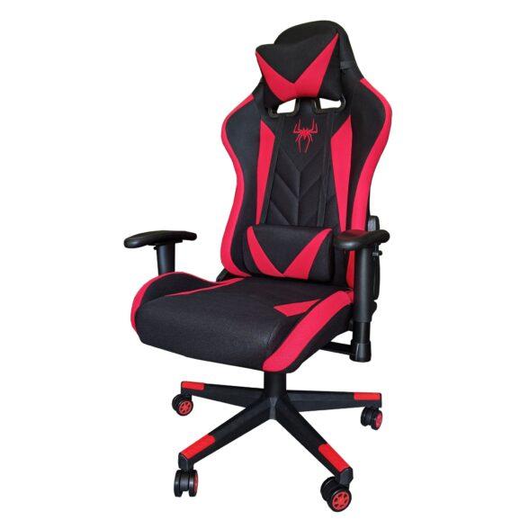 Scaun gaming B200 Spider textil black red. Promotii-scaune.ro
