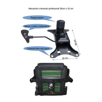 Mecanism Arka Chairs Me02 profesional pentru scaun gaming cu suport picioare 26cm x 15cm