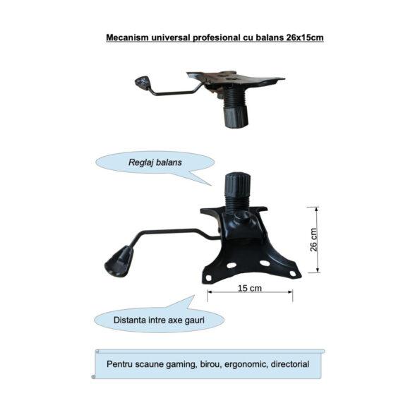 Mecanism universal26x15 profesional cu balans