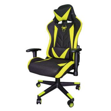 Scaun gaming B200 Spider Textil negru galben