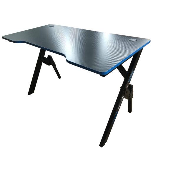 Birou gaming Arka Evolution Z4, Profesional, suprafata negru/albastru carbon 120*60cm