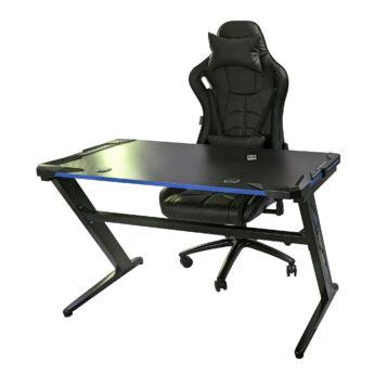 Birou Arka Gaming Z6, lumini led, suprafata negru albastru carbon 120*60cm
