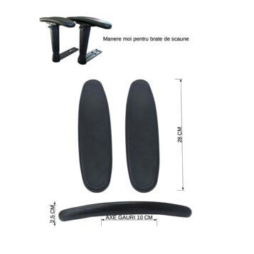 Set 2 manere moi M28, suport pentru brate de scaun de gaming/birou