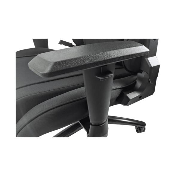Scaun gaming Arka Chairs B64 negru textil cu boxe incorporate, Zendeco.ro