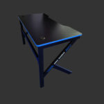 Birou gaming Arka Z3, Profesional, suprafata negru albastru carbon 120*60cm