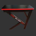Birou gaming Arka Z3, Profesional, suprafata negru/rosu carbon 120*60cm