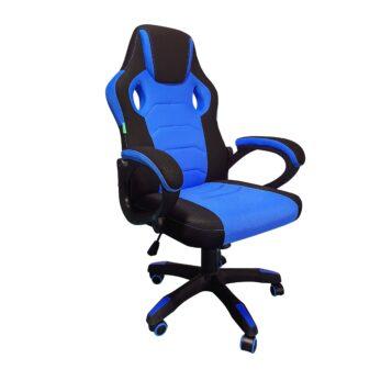 Scaun gaming Denver B33 Negru/albastru textil anti transpiratie