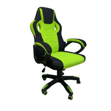 Scaun gaming Denver B33 Negru/Verde textil anti transpiratie