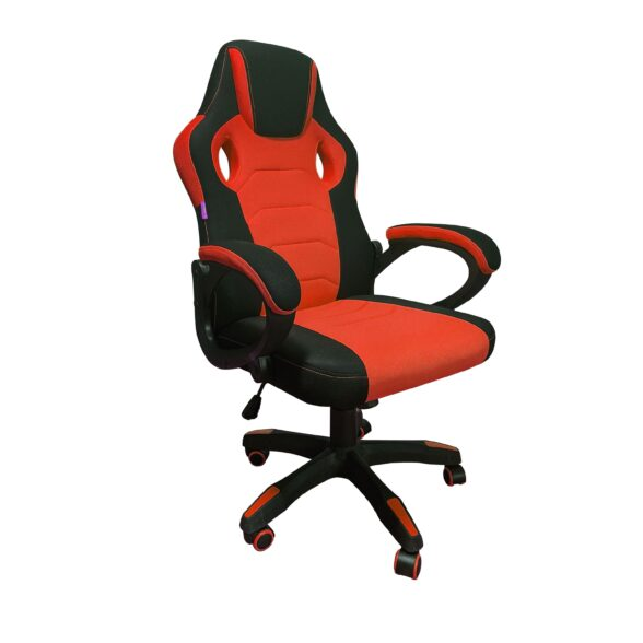 Scaun gaming Denver B33 Negru/Rosu textil anti transpiratie