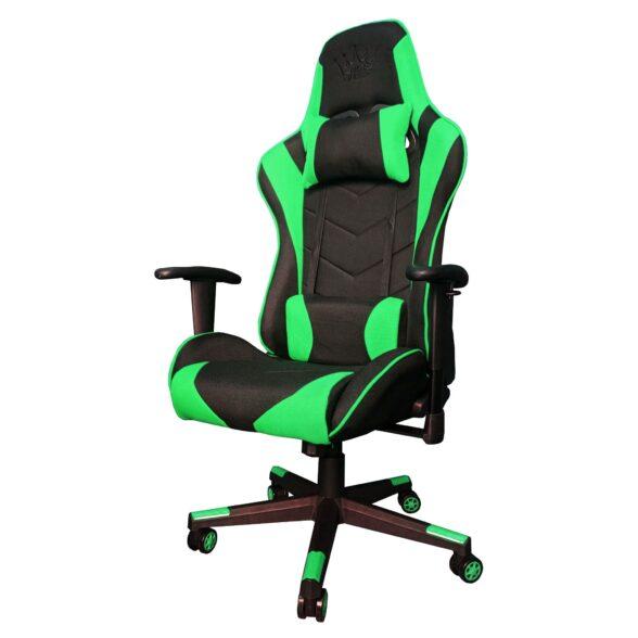 Scaun Gaming Arka Chairs B54 Negru/Verde Textil anti transpiratie