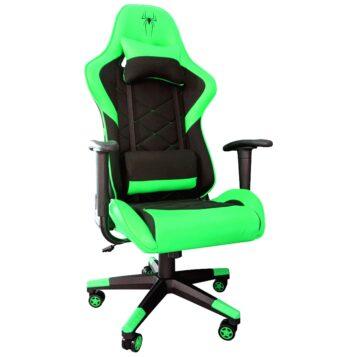 Scaun gaming B2 green textil